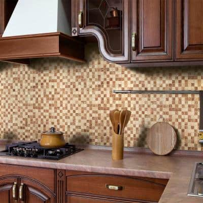 12 in. x 12 in. Peel and Stick Natural Stone Wall Tile