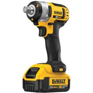 20-Volt MAX Cordless 1/2 in. Impact Wrench Kit with Hog Ring, (2) 20-Volt 4.0Ah Batteries & Charger
