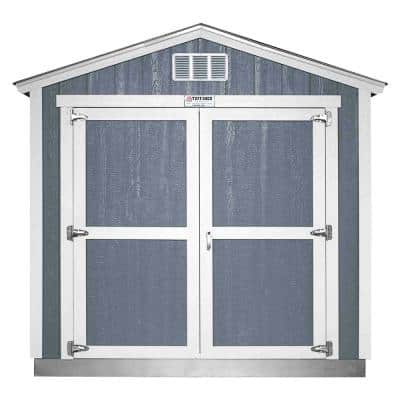 Installed The Tahoe Series Tall Ranch 8 ft. x 12 ft. x 8 ft. 6 in. Painted Wood Storage Building Shed