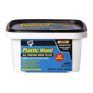 Plastic Wood 32 oz. Natural Latex Carpenter's Wood Filler (4-Pack)
