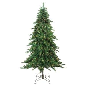 7.5 ft. Pre-Lit Eden Spruce Artificial Christmas Tree with Clear Lights