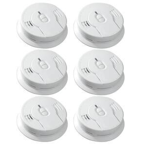 10 Year Worry-Free Smoke Detector, Lithium Battery Powered, Smoke Alarm, 6-Pack