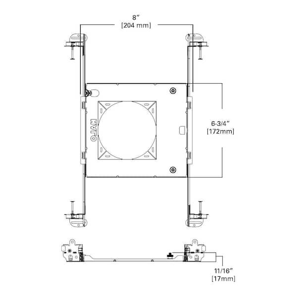 LED// Recessed Light Mounting Frame FERE Recessed Light Mounting Frame White Mat