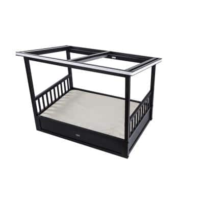 ecoFlex Medium Espresso Outdoor Dog Bed with Cover