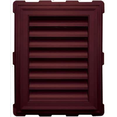 20.2 in. x 26.2 in. Rectangular Red Plastic Built-in Screen Gable Louver Vent
