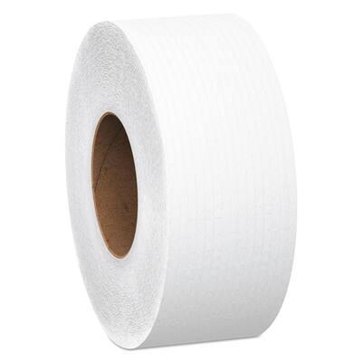 12 in. dia. 3.55 in. x 2000 ft. Scott Jrt Jumbo Roll Bath Tissue White 2-Ply (6 Rolls)