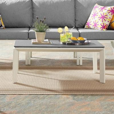 Riverside Aluminum Outdoor Coffee Table in White
