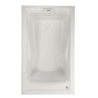 Evolution 60 in. Acrylic Rectangular Drop-in Air Bath Bathtub in White