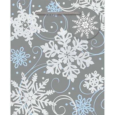 5.5 in. x 4.5 in. x 2.625 in. Whimsical Snowflake Bags (24-Pack)