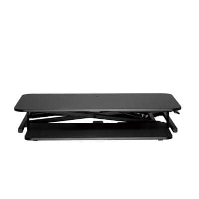 32 in. Sit-Stand Rectangle Black Desk Converter