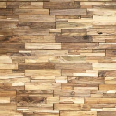 Reclaimed Wood 1/2 in. x 24 in. x 12 in. Natural Teak Wood Wall Panel (10-Panels/Box)