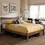 Edeline Medium Brown King Platform Bed