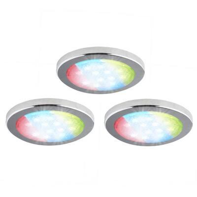 3-Pack Under-Cabinet LED RGD Puck Light