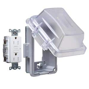1-Gang Clear Weatherproof GFCI/Combo In-Use Cover