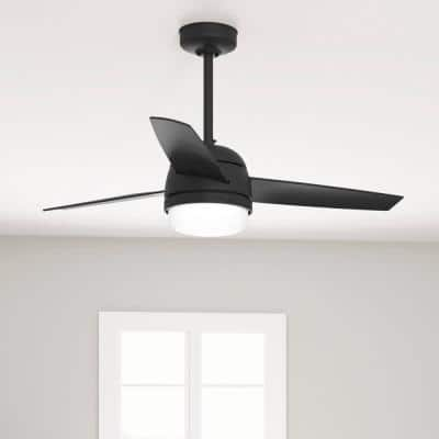 Midtown 48 in. Indoor Matte Black Ceiling Fan with Light Kit and Remote