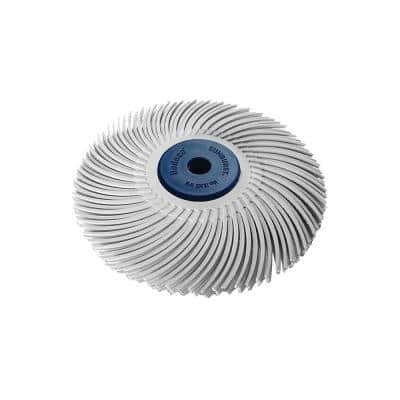 Sunburst 3 in. 120-Grit 3-Ply Radial Discs 1/4 in. Arbor Medium Thermoplastic Cleaning and Polishing Tool