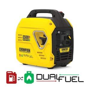 2500-Watt Ultralight Portable Gas and Propane Dual Fuel Recoil Start Inverter Generator