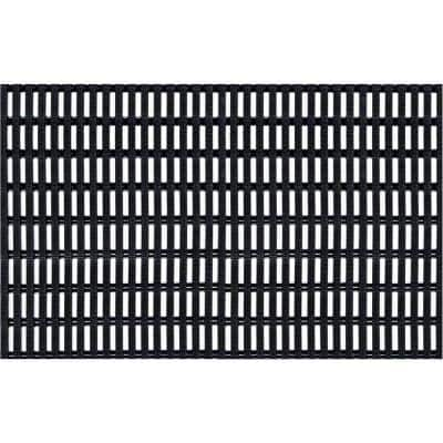 Airpath Black 3 ft. x 10 ft. PVC Anti Fatigue and Safety Rug Runner