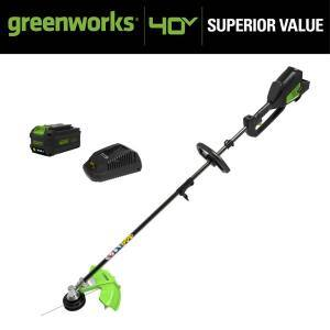 14 in. 40V Battery Cordless Attachment Capable String Trimmer with 6.0 Ah Battery and Charger