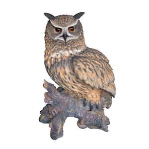 Eagle Owl on Stump Statue