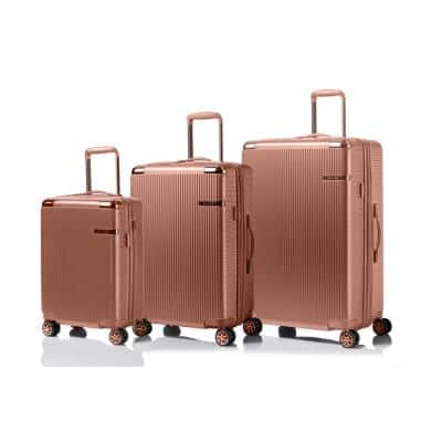 CHAMPS Legacy 28 in.,24 in., 20 in. RoseGold Hardside Luggage Set with Spinner Wheels (3-Piece)