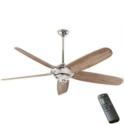 Altura 68 in. Indoor DC Polished Nickel Ceiling Fan with Remote