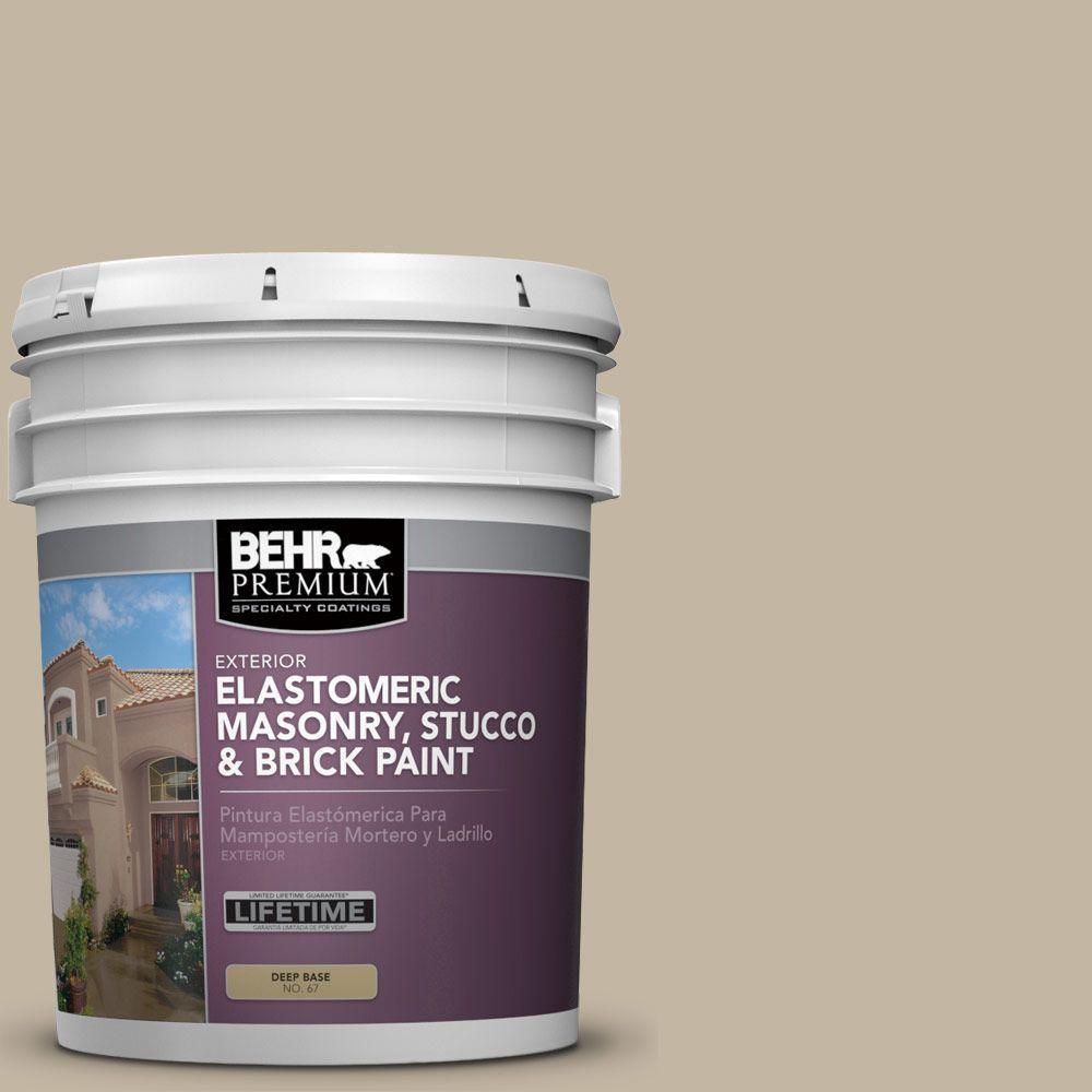 5 gal. #MS-43 Sandstone Elastomeric Masonry, Stucco and Brick Exterior Paint