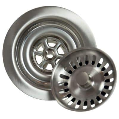 4.5 in. Kitchen Strainer in Brushed Stainless
