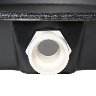 22 in. Plastic Water Heater Pans with PVC Drain Connection (Case of 20)