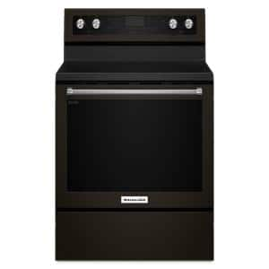 6.4 cu. ft. Electric Range with Self-Cleaning Convection Oven in PrintShield Black Stainless
