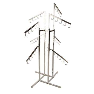Chrome Steel Adjustable Clothes Rack (36 in. W x 72 in. H)