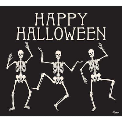 7 ft. x 8 ft. Happy Halloween Skeletons Halloween Garage Door Decor Mural for Single Car Garage