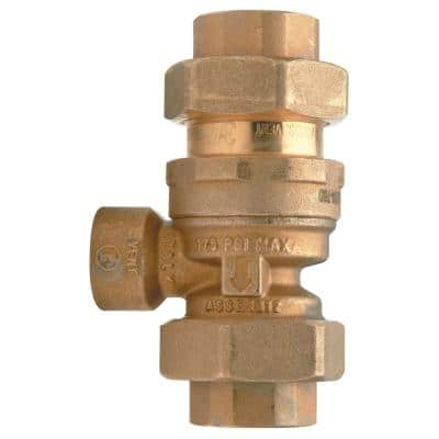 1/2 in. Bronze Dual Check Valve Backflow Preventer with Atmospheric Venting