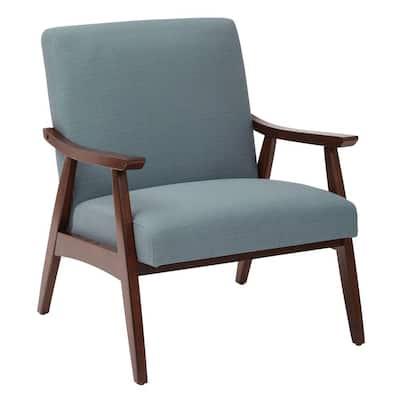 Davis Blue Fabric Arm Chair