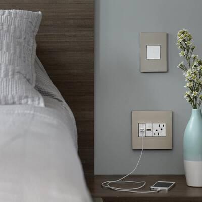 adorne sofTap 15 Amp Single-Pole/3-Way Switch, White