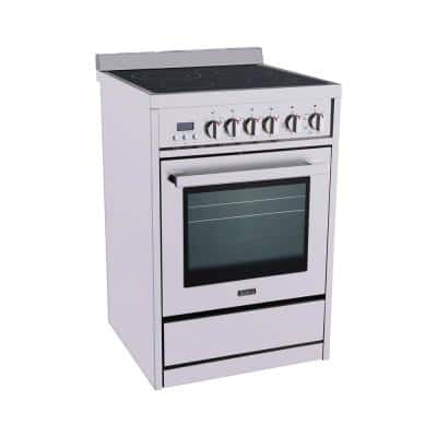 24 in. Electric Range in Stainless Steel 2.2 cu. ft. Oven