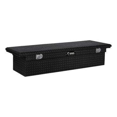 72 in. Gloss Black Aluminum Truck Tool Box with Low Profile (Heavy Packaging)