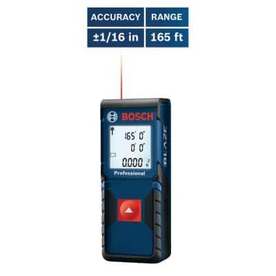 BLAZE 165 ft. Laser Distance Tape Measuring Tool with Square Footage Calculation