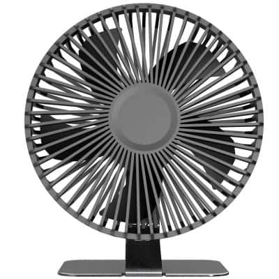 Mildred 6 in. 4 Speeds Adjustable Tilt Angle Desk Fan in Black