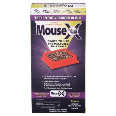 Mouse-X Ready-To-Use Pre-Measured Mouse Bait Trays (4-Pack)