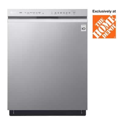 24 in. Stainless Steel Front Control Dishwasher with QuadWash, 3rd Rack & Dynamic Dry, 48 dBA