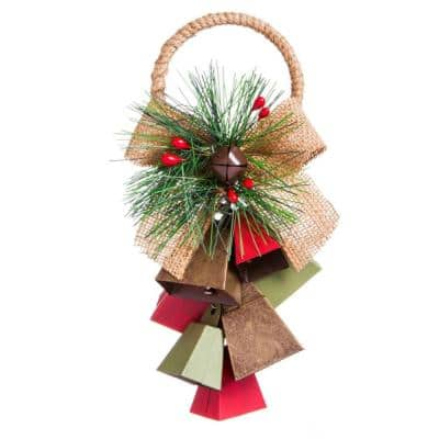 Evergreen 2 1 2 In Metal Bell Cluster Hanging Christmas Ornament 3otm072a The Home Depot