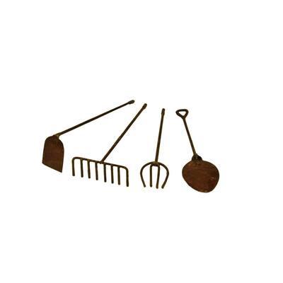 MiniGardenn 10024 Fairy Garden Miniature Tools in Rustic (Set of 4)