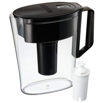 SOHO 5-Cup Small Water Filter Pitcher in Black, BPA Free