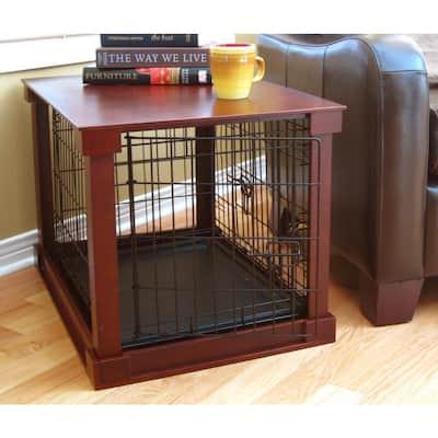 Dog Crate with Mahogany Cover - Medium