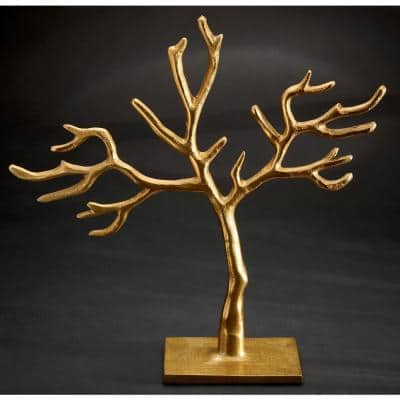 12 in. Gold 20-Branch Cast Tree of Life Jewelry Holder