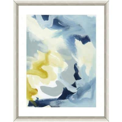 """""""Painting in blue"""" Framed Archival Paper Wall Art (24 in. x 28 in. in full size)"""