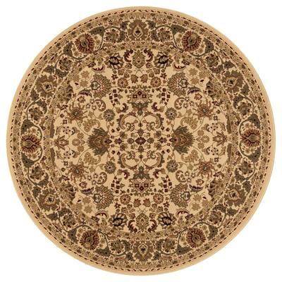 Persian Classics Mahal Ivory 8 ft. Round Area Rug