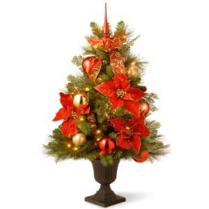 3 ft. Decorative Collection Home For the Holidays Entrance Artificial Christmas Tree with Clear Lights