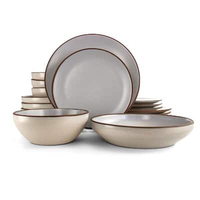 Contempo Classic 16-Piece Casual Light Blue Terra Cotta Dinnerware Set (Service for 4)